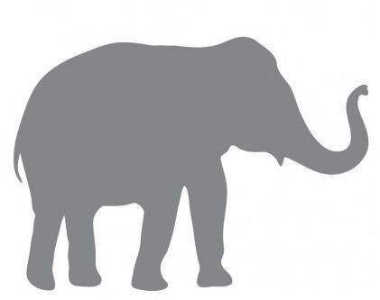 •̀ •́ Слон стены Стикеры наклейка идеально подходит для ...