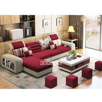 883 Modern Design Sofa Set Frame Sofa Combination Living Room Home Furniture Sectional Couch Fabric Recliner Couch