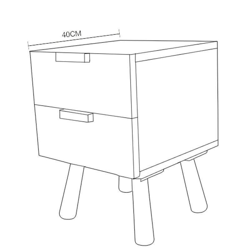 Древесина белого дуба прикроватная подставка шкаф с выдвижными ящиками