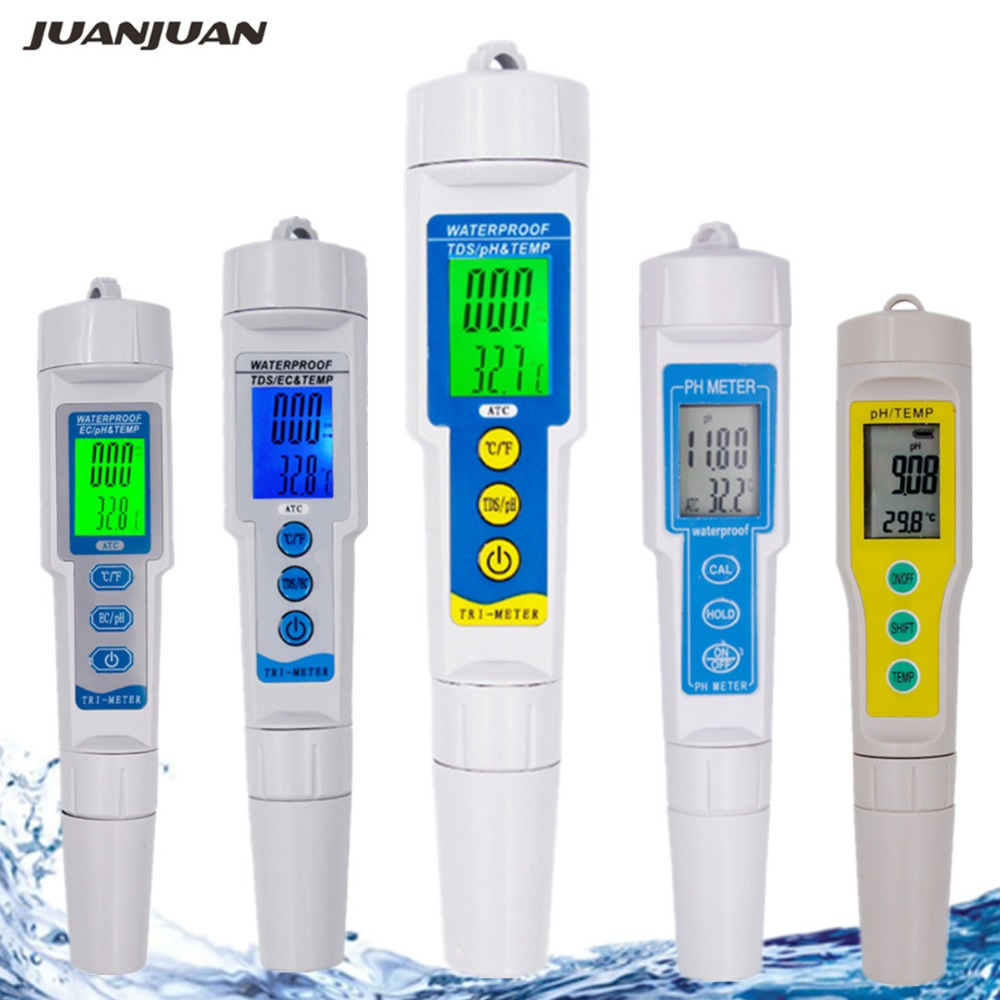 Professional PH Meter Water Quality Tester TDS/PH/EC Tester Temperature Tester Pen Conductivity Water Quality Measurement Tools