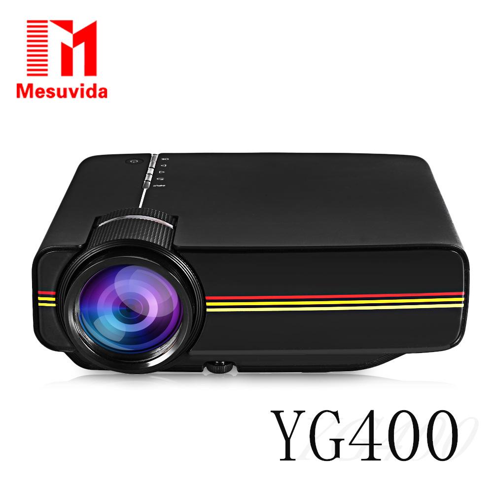 Prix pour YG300 Mise À Niveau YG400 Mini Projecteur Pour Jeux Vidéo TV Beamer Projet Home Cinéma Film AC3 HDMI VGA AV SD USB YG-400 1080 P