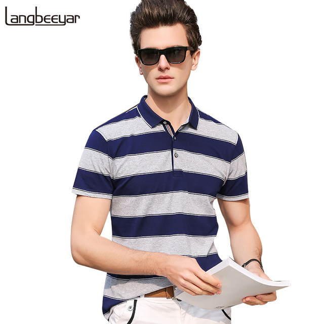 48a68793ff59 2018 New Fashion Brands Polo Shirt Men Street Wear Slim Fit Men Striped Polo  Shirt With Short Sleeve Casual Summer Men Clothes