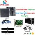 P3.91 Крытый литье алюминия полноцветный светодиодный дисплей прокат 500*500 мм SMD RGB LED дисплей шкаф