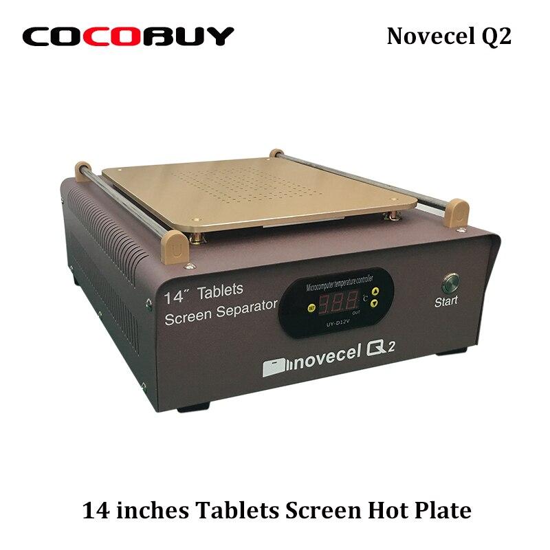 Q2 Built in Dual Vacuum Pump Glass LCD Separator Split Screen Repair Machine 14 inches for