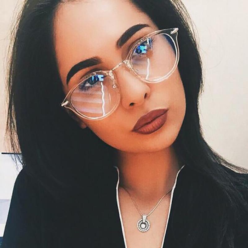 KOTTDO Marco retro de las gafas del ojo de las mujeres de la vendimia Óptica Gafas de gafas de montura de marco Hombres Mujeres con Lente Clara Oculos Feminino
