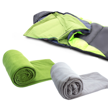 Camping Fleece Sleeping Bag Liner Portable Warm Zipper Blanket for Outdoor Home Office FH99 1