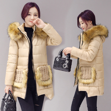 2016 зима женщины куртка 3 Размер длинные вниз Пальто супер большой воротник куртка пальто плащ плюс размер толщиной Надьямарош воротник пуховик