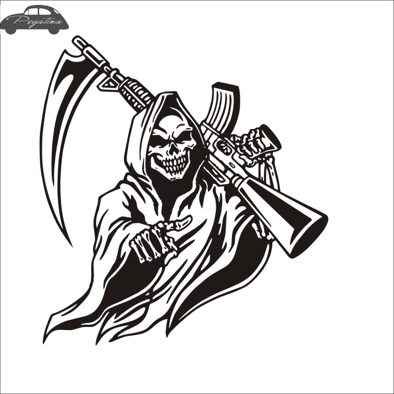 Pegatina Hunt Skull M16 Decal Hunting Club Sticker Hollow