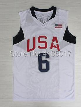 Возврат Леброн Джеймс 6 # Коби Брайант 10 # Кармело Энтони 15 # памятной прошитой США Баскетбол Джерси