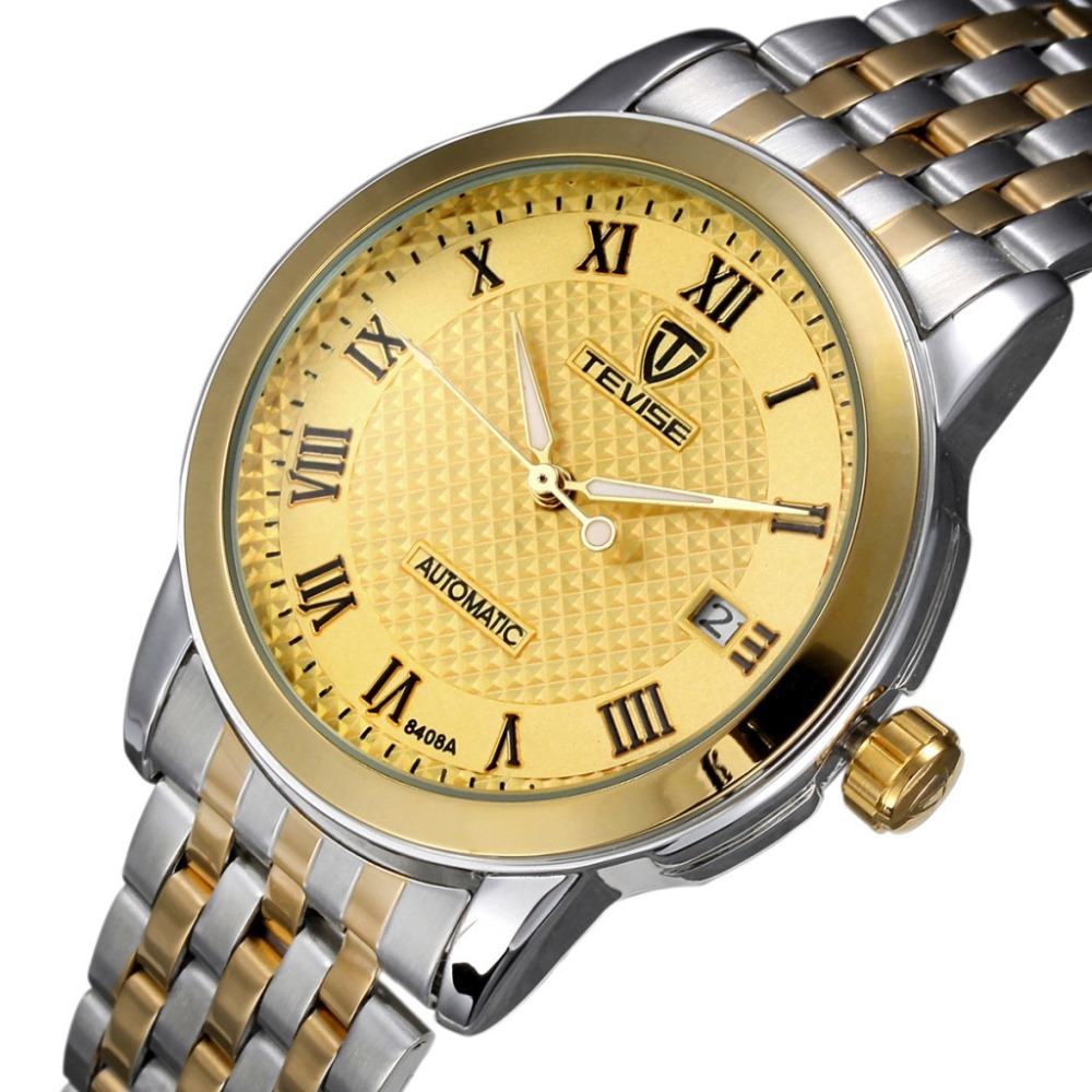 ФОТО TEVISE Mens Watches top brand Luxury Watch Automatic Self Wind Business Mechanical luminous Wristwatch Relogio Masculino