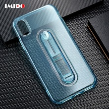 IMIDO Clear Phone Case For iPhone X XS MAX XR 8 7 6 6S Plus 5 5S SE Hide Ring Stand Holder Silicon Soft TPU Back Cover Coque цена и фото