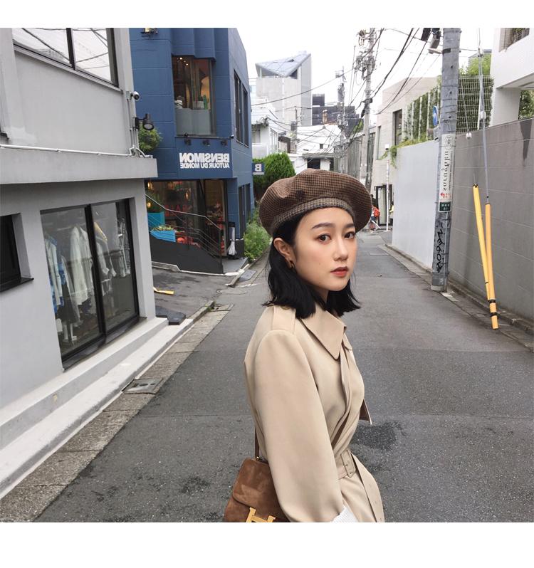 Spring Autumn Maxi Long Women's Loose Trench Coat With Belt Khaki & Black Plus Size Korean Style Windbreaker Outwear 18