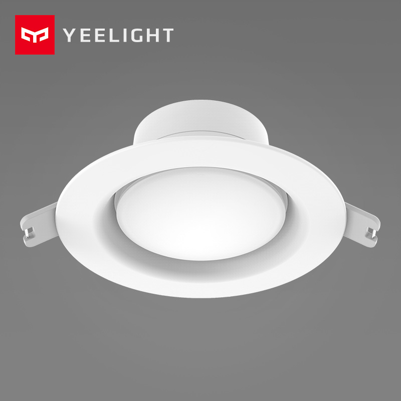Xiaomi Mijia Yeelight LED Downlight 5W 220V Mini Round Embedded Ceiling Lamp Warm White Yellow Xiaomi