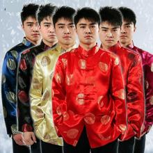 Tang Suit Traditional Chinese Clothing For Men Linen Fluid Tops Garment Kung Fu Suits Man Blouse Shirt Hanfu Uniform Summer