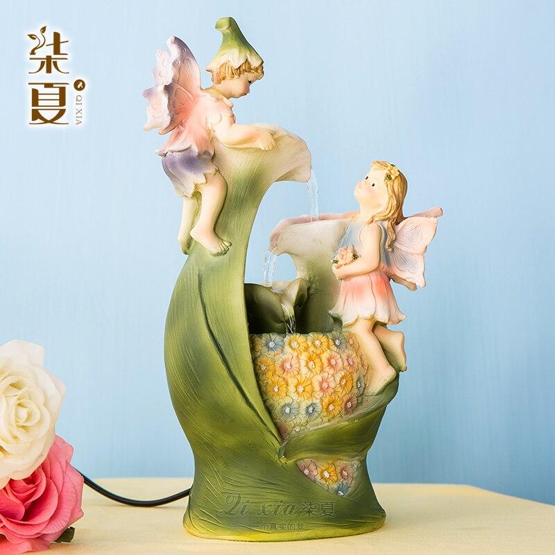 Sept européen été ange fontaine d'eau ornements artisanat bijoux créatif décoration intérieure ameublement bureau
