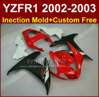 Red black bodyworks for YAMAHA YZF1000 02 03 custom fairings YZF R1 2002 2003 yzf r1 body parts Aftermarket +7gifts