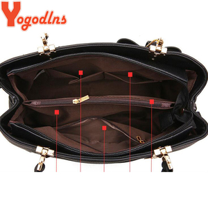 Image 4 - Yogodlns Women Bag Vintage Handbag Casual Tote Fashion Women Messenger Bags Shoulder Top Handle Purse Wallet Leather 2020 New