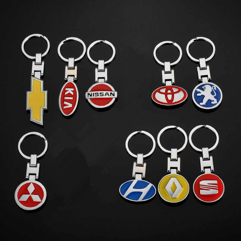 3D Carro de Metal Carro Chaveiro Chave Anel Chave Da Cadeia de Moda Chaveiro Auto Chaveiro Keyfob Carro-styling Car Universal pendant car styling