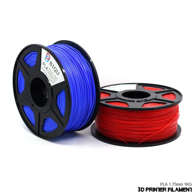 BIQU Optional 3D printer filament PLA 1.75mm/3.0mm  1kg rolls  of 24 colors for you choose for 3d pen  biqu new spool filament mount rack bracket for pla abs filament 3d printer