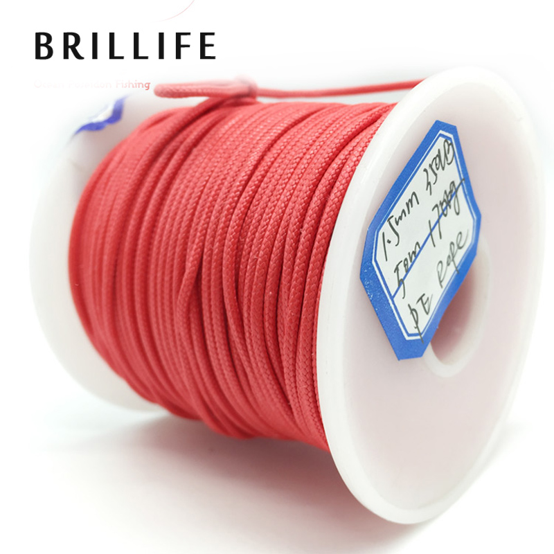BRILLIFE PE Line 1.5mm 1000m 350LB 170kg 16 Strands Braided Wire Spearfishing Gun Rope Threaded Rope стоимость