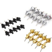 Factory wholesale Guitar Parts 10Pcs Chrome Guitar Bass Non-Slip Strap Locks  3 Colors SS