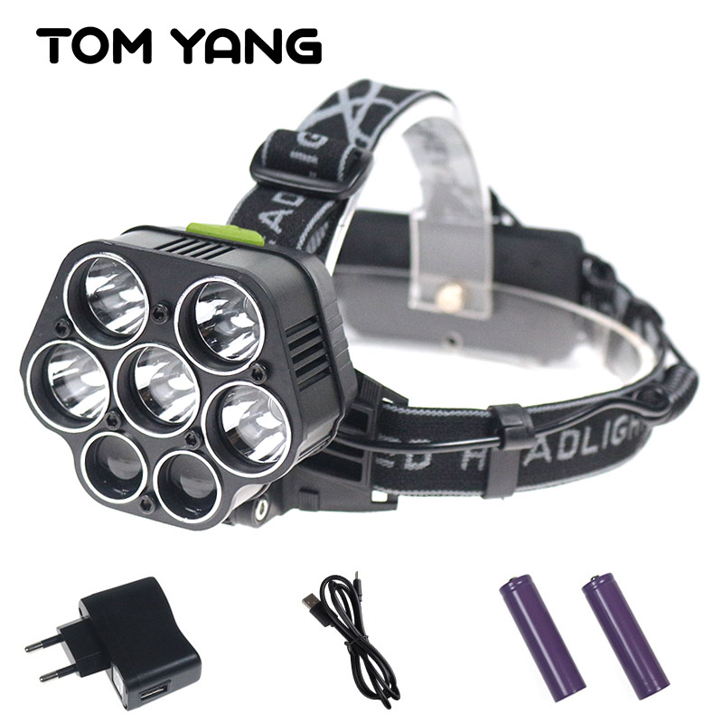 USB 20000 Lumens Ultra Bright 7 LED Headlamp Rechargeable 5*T6 Waterptoof Head Flashlight Torch Cree XML T6 Headlight For Camp sitemap xml page 7