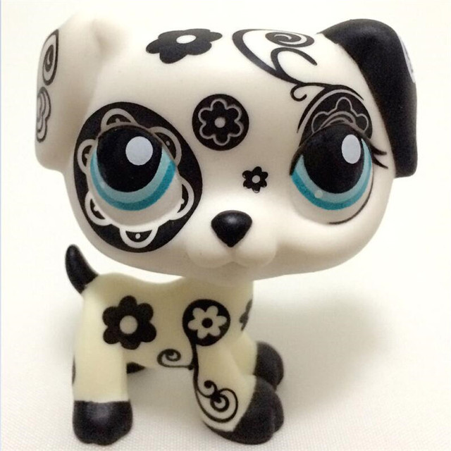 Lps pet shop belle pet shop chat jouets rare noir et blanc folwer dalmatien chien de no l - Petshop tigre ...