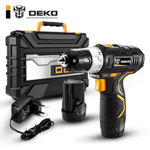 DEKO GCD12DU3 12V Max Electric Screwdriver Cordless Drill Mini Wireless Power Driver DC Lithium-Ion Battery 3/8-Inch 2-Speed(China)