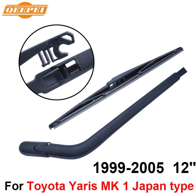 Qeepei traseiro limpa e braço para toyota yaris 1 japão tipo 1999-2005 12 ''5 portas Hatchback Alta Qualidade Natural borracha