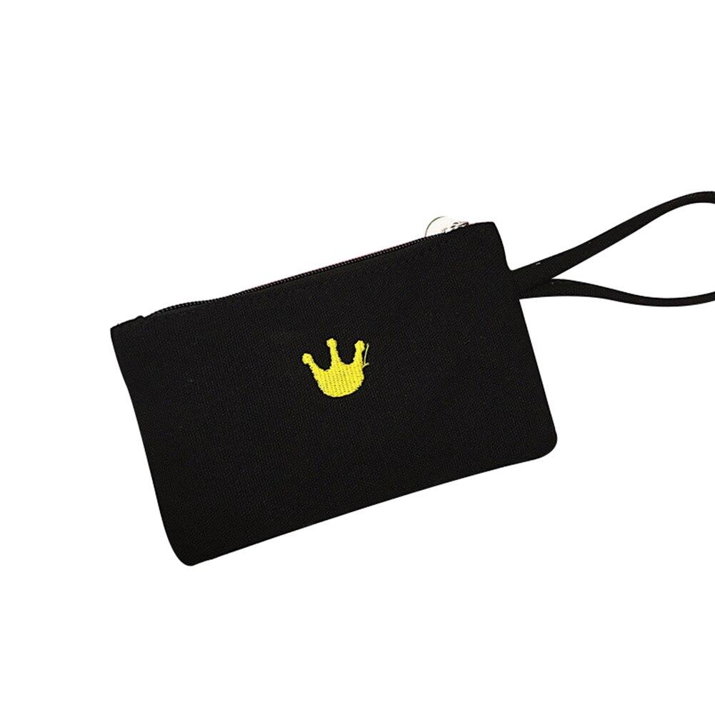 Bereidwillig Sanwood Mooie Cartoon Kat Crown Canvas Vrouwen Coin Card Telefoon Portemonnee Portemonnee Clutch Bag Portemonnees Para Mujer Monedas Cremallera Esthetisch Uiterlijk
