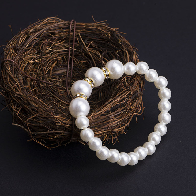 Hot Fashion Jewelry Vintage Crystal Pearl Bracelet Exquisite Women Bracelet Jewelry HJ1024-1