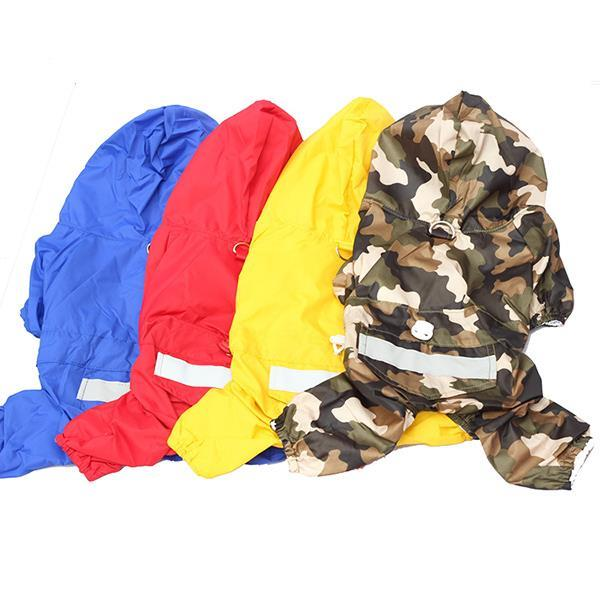 Cheap High Quality Waterproof Hooded Dog Apparel Acrylon Raincoat Jacket 4 Colors Pet Costume Large 5076 Hot