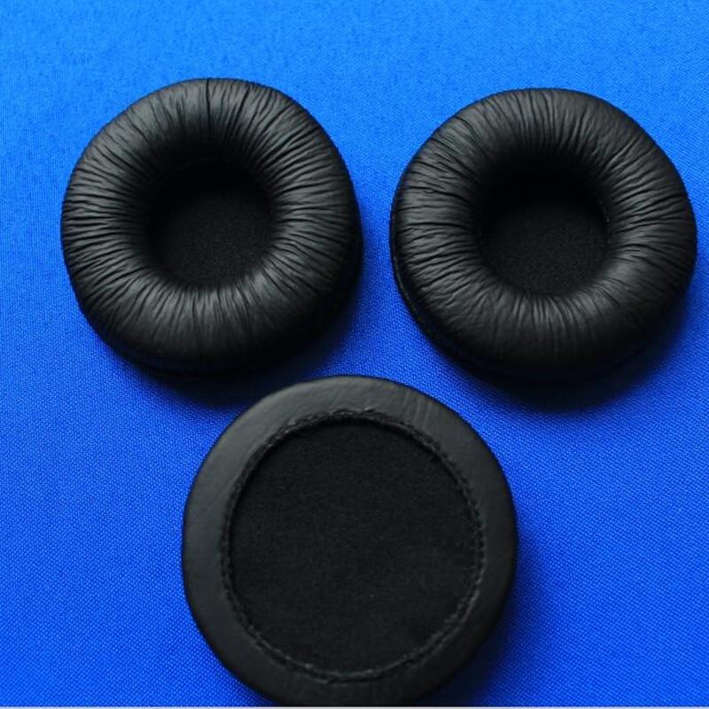 10Pcs 6cm Soft Leather Ear Cushions Sponge headphone Pads Durable Earbud Earpads 60mm