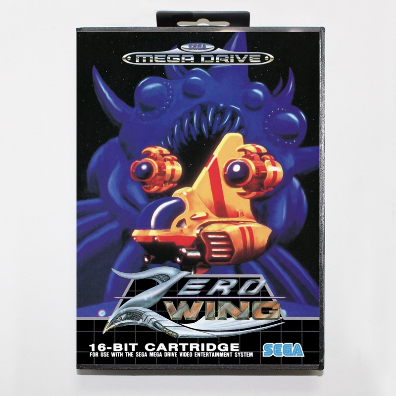 Sega MD games card – Zero Wing with box for Sega MegaDrive Video Game Console 16 bit MD card