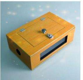 Voir à travers la boîte à bascule (en bois)/tour de Magie, mentalisme, Magie de scène, comédie, gros plan, Magia Toys Magie classique