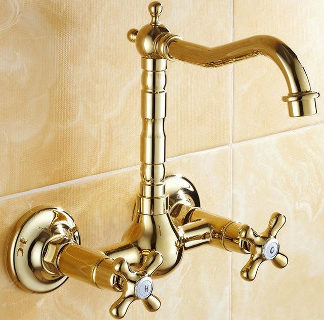 BECOLA Бесплатная доставка Золото Цвет Ванная комната раковина кран кухня смеситель роскошные бассейна бренды HY-851