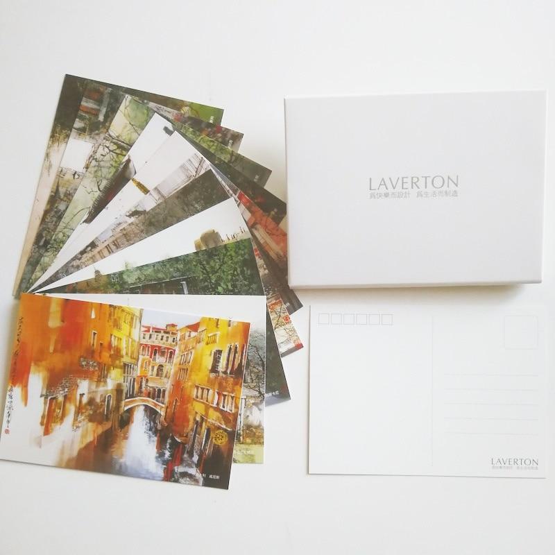12 Pcs/set  Beautiful  Landscape Painting Postcards Chinese Ink Painting Art Postcards