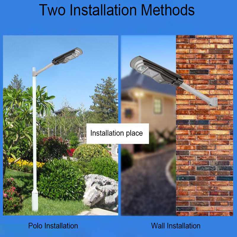 BEYLSION Remote Control Radar Sensor 20W 40W 60W LED Solar Street Flood Light Pole Emergency Lamp For Garland Garden Street (0