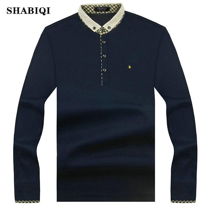 2018 New Arrival Fashion Brand   Polo   Shirts Long Sleeve Men's autumn Slim Shirt Cotton Casual Tee Shirts Men Plus Size S-10XL