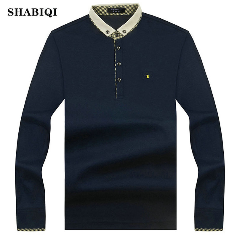 2019 New Arrival Fashion Brand   Polo   Shirts Long Sleeve Men's autumn Slim Shirt Cotton Casual Tee Shirts Men Plus Size S-10XL