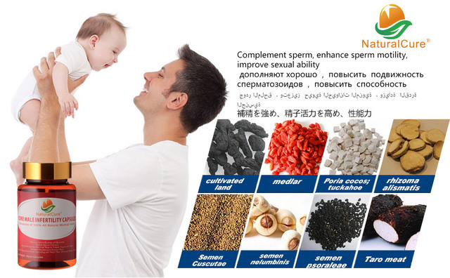 Curar La Infertilidad Masculina NaturalCure Caps-dulos, aumentar la Cantidad de Espermatozoides y la Calidad, Enfermedad cura Bajo Conteo de Esperma, hacer Que el Padre