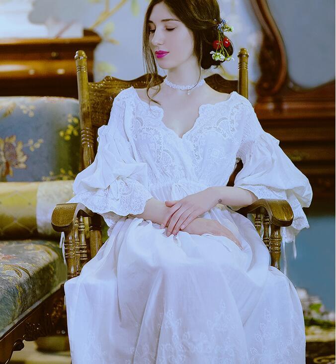 Image 2 - High Quality Dress Elegant Sleepwear Nightdress Women Nightgown Pregnant women Sleepwear Bride Gowns Dress High Qualityelegant sleepwearwomens nightgownwomen sleepwear -