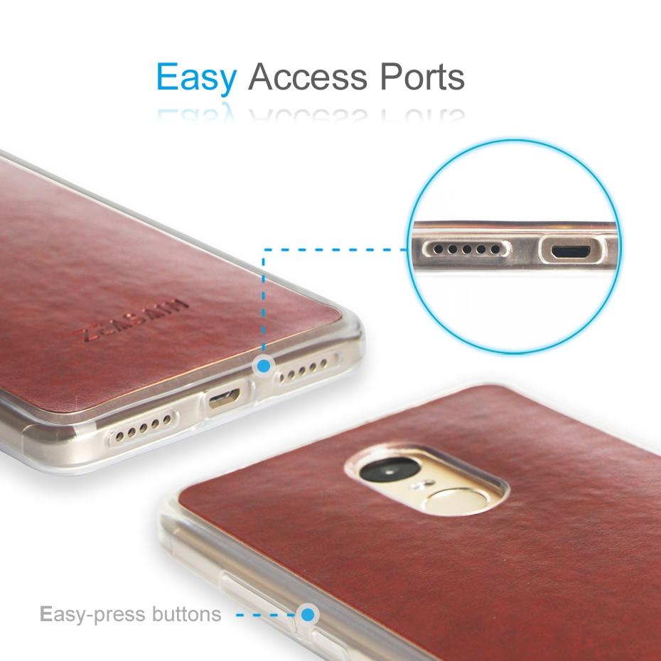 Original ZEASAIN Skin Friendly Touch PU-läderfodral för Xiaomi - Reservdelar och tillbehör för mobiltelefoner - Foto 4