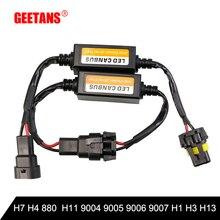 GEETANS Car LED Error Free Decoder Canceller Canbus Headlight Foglight  H7 H4 H11 H1 H13 H3 9004 9005 9006 9007 HB1 HB4 881 цена