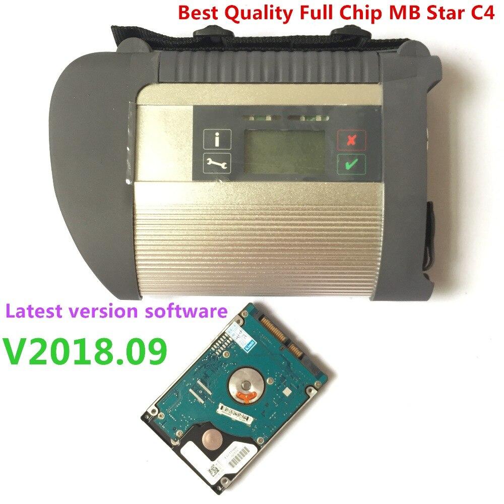 Meilleure qualité!! Puce complète MB star c4 connectez l'ensemble complet + le dernier logiciel 2019.07 HDD/SSD mb c4 sd compact C4 avec diagnostic de voiture WIFI