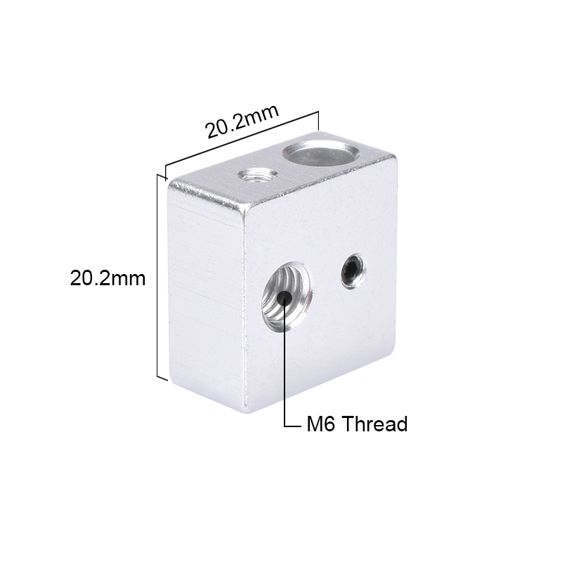 Reprap MK7 MK8 Block Aluminium Block Heater Block For Print Head Hotend For MK8 Extruder Heating Block 3D Printer Parts