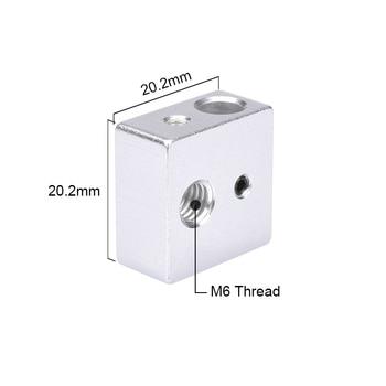 Reprap MK7 MK8 Block Aluminium Block Heater Block For Print Head Hotend For MK8 Extruder Heating Block 3D Printer Parts фото