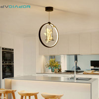 DVOLADOR 3 Colors Adjustable Angel LED Pendant Light Nordic American Country Style Creative Bedroom Living Room