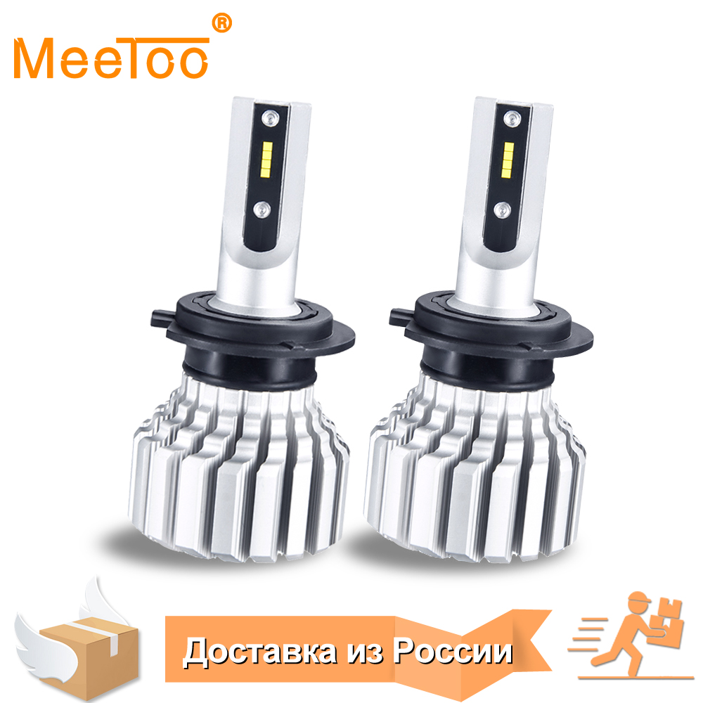 MeeToo H7 Led Bulb H4 Led Headlight Auto Fanless 10000LM H1 H11 Bombillas Led Para Automovil