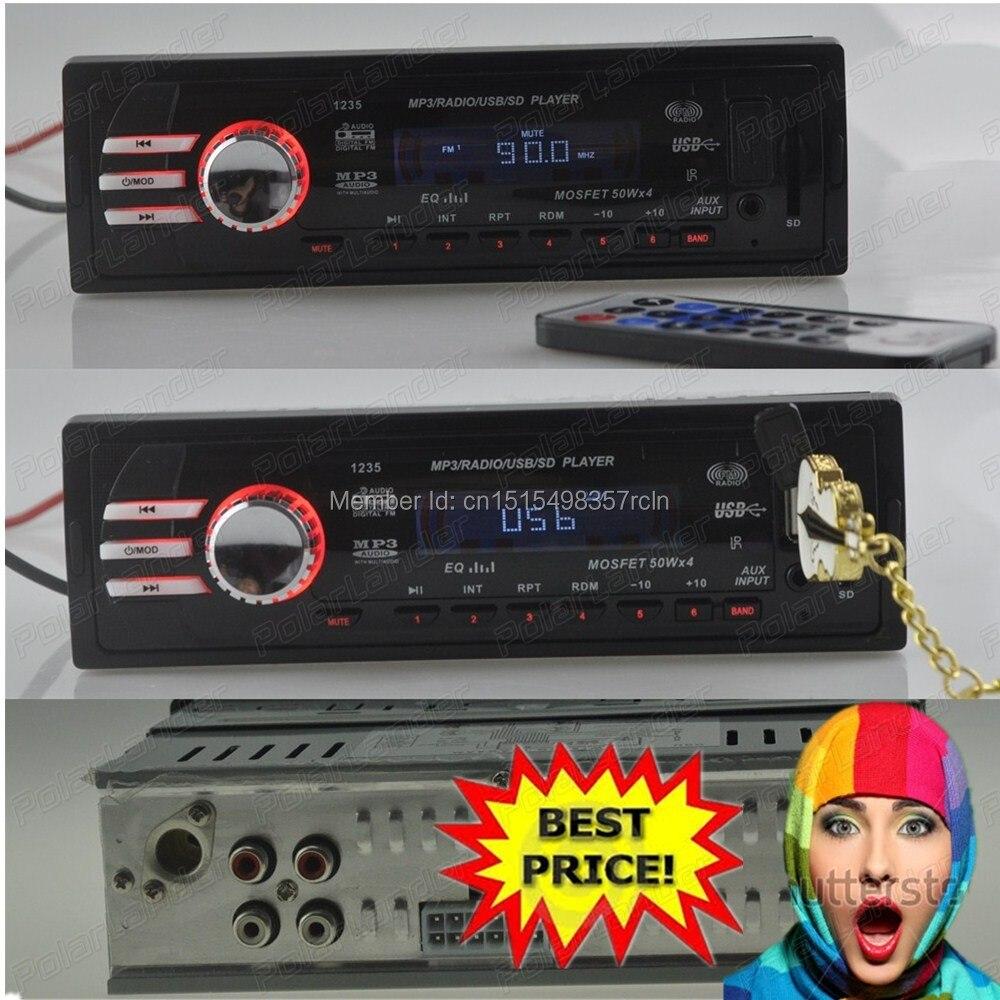 2015 nouveau autoradio stéréo MP3 FM Radio lecteur Audio autoradio 12 V chargeur USB/SD voiture électronique peut utiliser le FM
